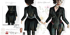Celena-Charcoal-Leather-Peplum-Dress