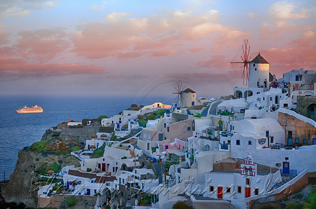 Early morning Arrival at Oia