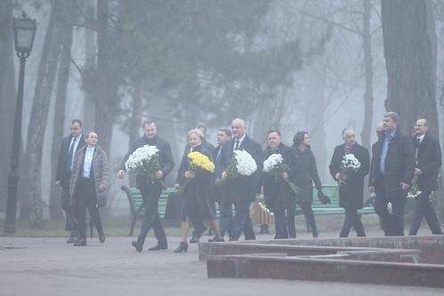 15.01.2020 Depunere de flori cu ocazia Zilei Naționale a Culturii