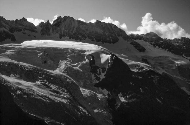 La Haute Route des Alpes (août 1994): Le glacier des Grande Murailles