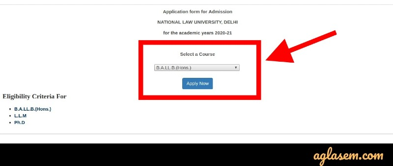 AILET 2020 course selection