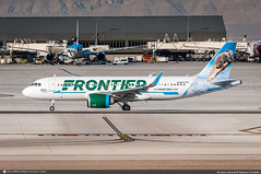 [LAS2020] #Frontier.Airlines #F9 #Airbus #A320neo #N361FR #Wylie.the.Coati #awp