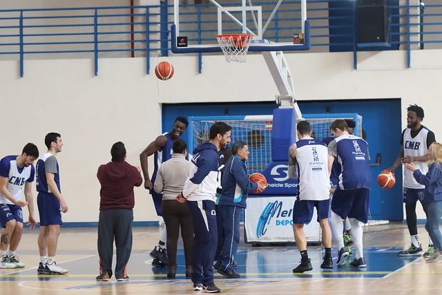 SOCIAL   Visita del Centro Gámez Morón al entrenamiento del Melilla Baloncesto