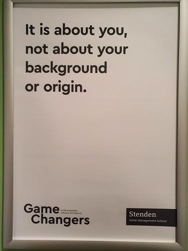 Poster at NHL Stenden Hotel Management School.