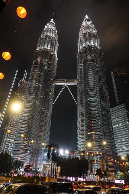 Twin towers in the dark