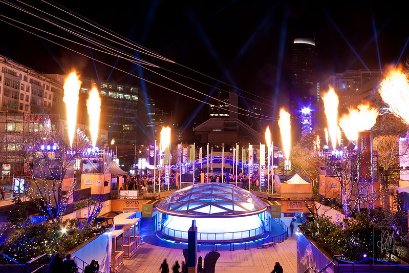 Ignite the Dream - a light and sound spectacular at Robson Square