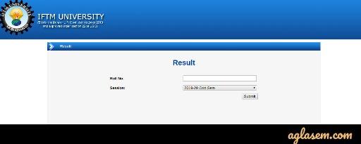 IFTM University Result
