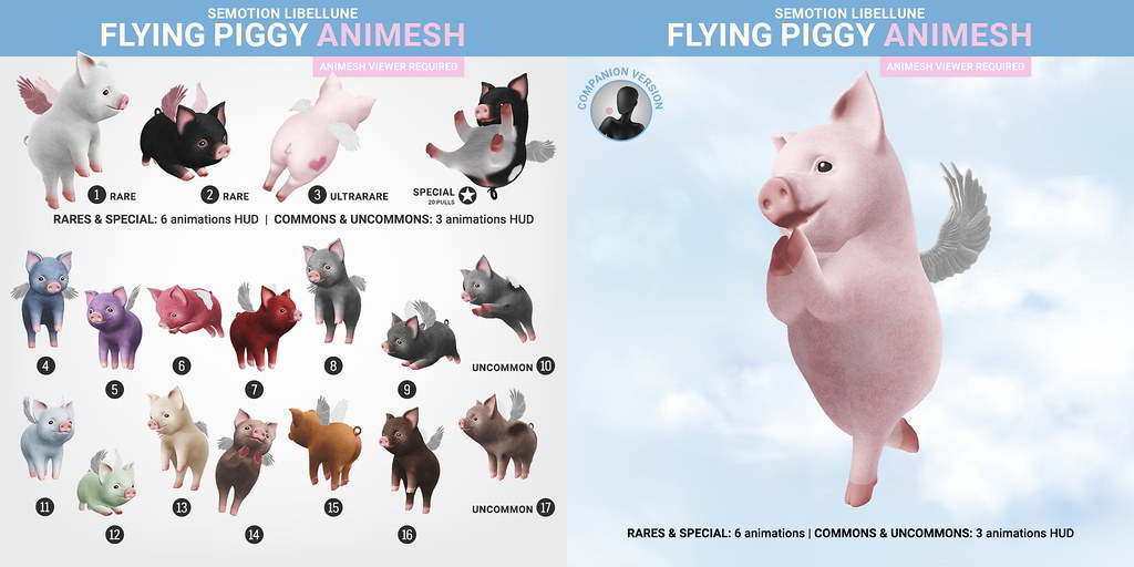 SEmotion Libellune Flying Piggy Animesh