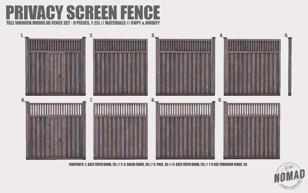 NOMAD // Privacy Screen Fence