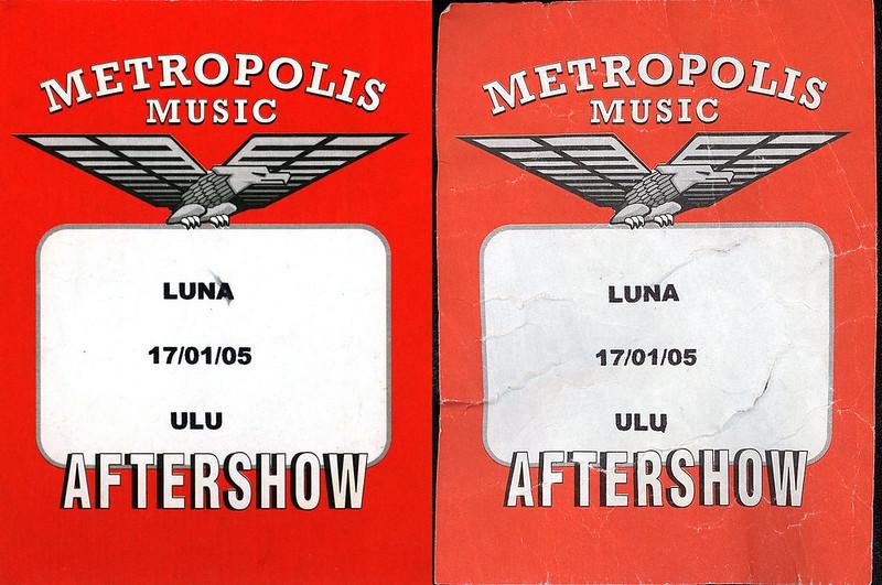 Luna - Aftershow passes (2005-01-17)