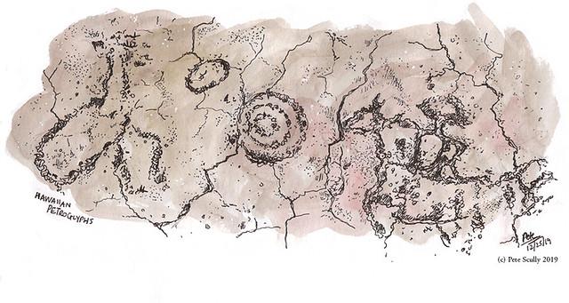 Hawaii Petroglyphs, big island