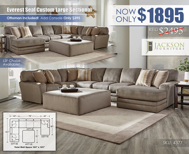 Everest Seal Large Custom Sectional_4377_Jackson Catnapper