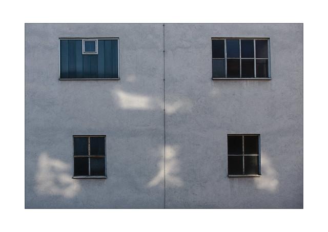 light Kanji on a house