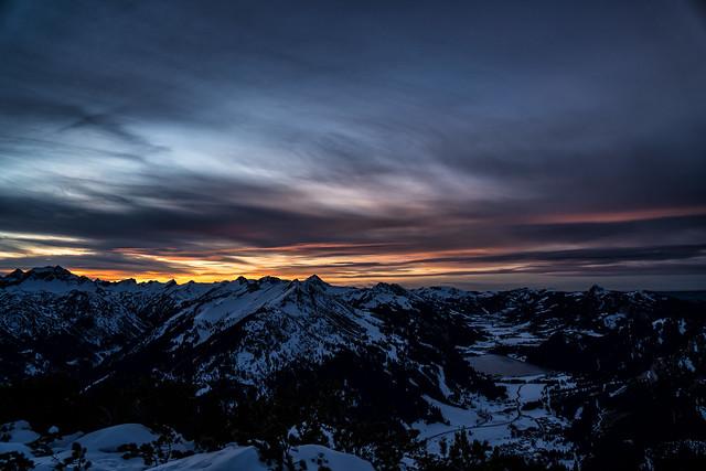 Sonneuntergang am Hahnenkamm