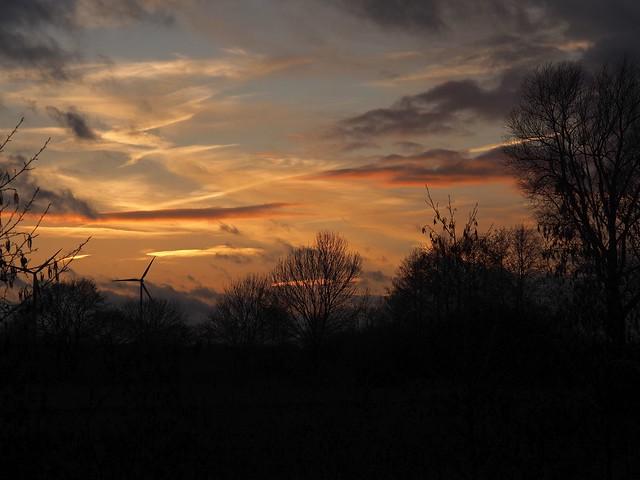 Sonnenuntergang an der Rur