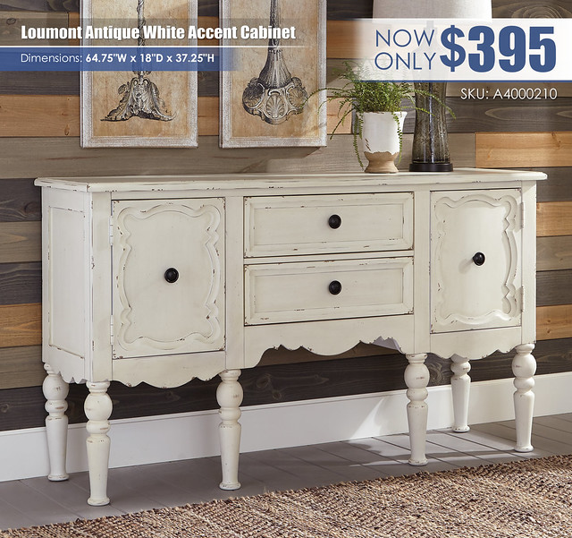 Loumont Antique White Accent Cabinet_A4000210