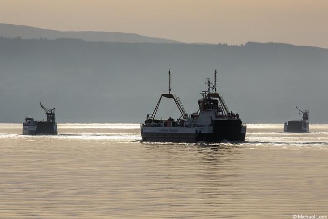 Caledonian Macbrayne ferries Isle of Cumbrae, Loch Fyne and Loch Riddon; the Holy Loch, Argyll, Scotland