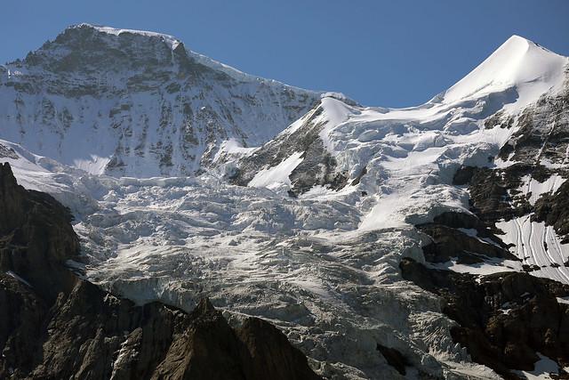 View on the Jungfrau massive - Switzerland
