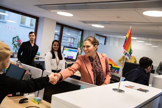 Kroonprinses Victoria en Prins Daniel van Zweden bezoeken RFSL (2019)