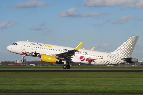 "EC-MEQ Vueling Airbus A320-200  ""Pepsi Max"" special colours"