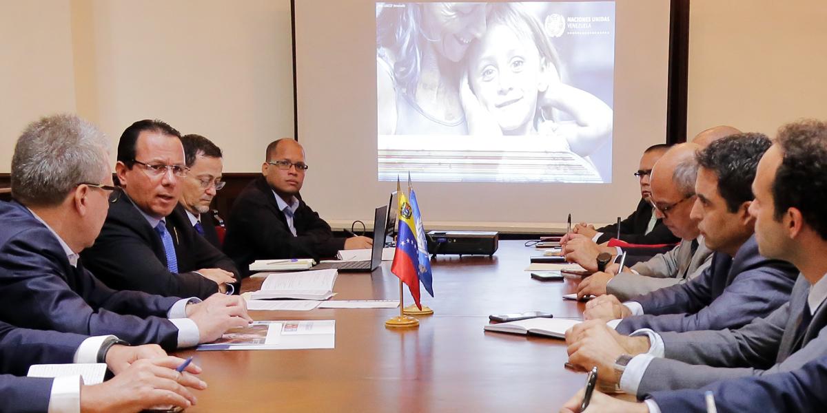 Reunión del Viceministro Alexander Yánez con representantes de las agencias de la ONU acreditadas en Venezuela