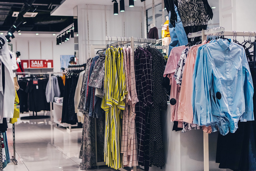 Women clothes in the store
