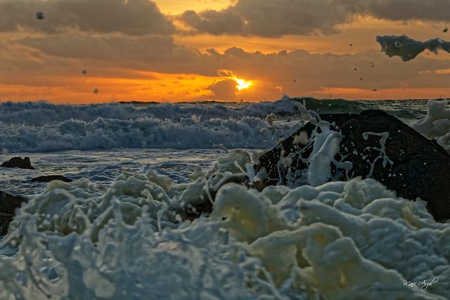 Sunset & Waves