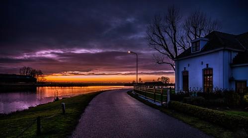 ouderkerkaandeamstel noordholland nederland bullewijk rondehoep cffaa sunset holendrechterweg