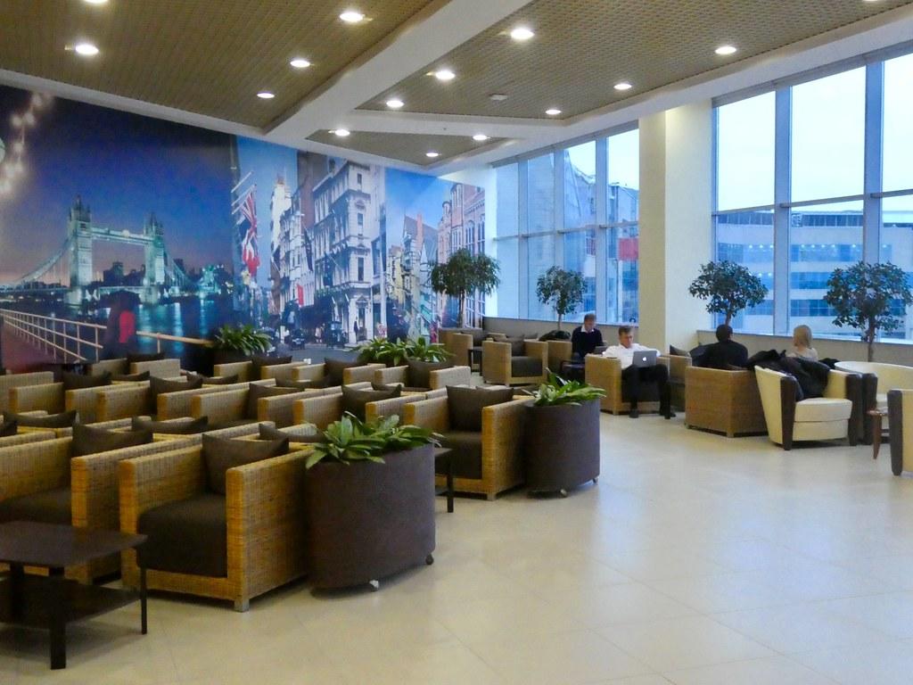 British Airways Navigator Club Lounge, Domodedovo airport Moscow
