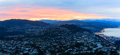 <p>A panoramic view over Wellington, as seen from Wrights hill</p>