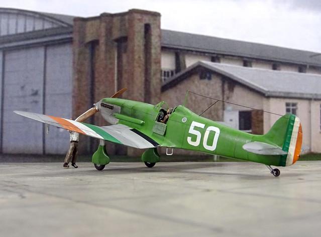"1:72 Supermarine (Type 250) ""Skylark Mk. I"", aircraft ""50"" of the Irish Army Air Corps (IAAC) No. 1 Squadron; Baldonnel (Dublin), late 1938 (What-if/modified Hasegawa kit)"