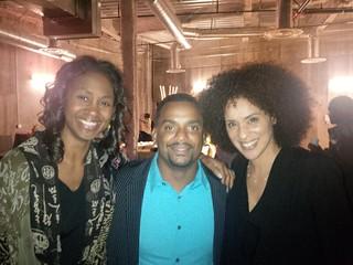 Danita Patterson with Alfonso Ribeiro and Karyn Parsons.