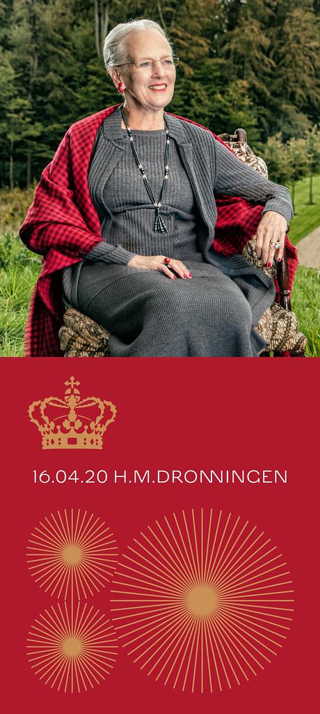 Koningin Margrethe van Denemarken - 80 jaar