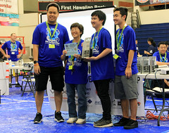 Hawaiian Electric at the Hawaii State VEX Robotics Championships — Jan. 11, 2020: Volunteer Of The Year Award!