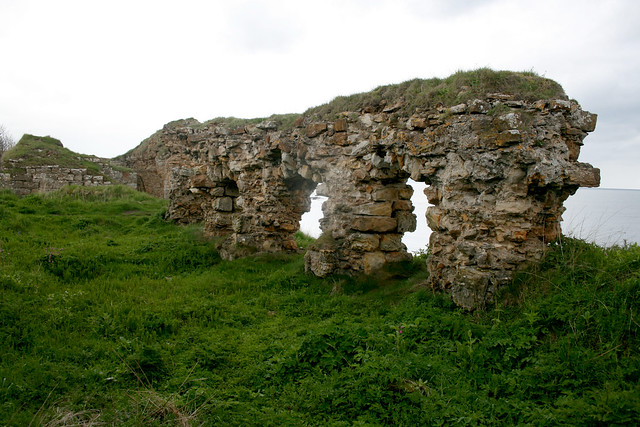 The remains of Ardross Castle, near Elie