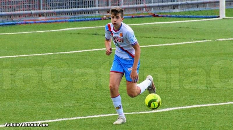 Salvatore Catinella, classe 2004, difensore centrale al primo gol stagionale (ph. Daniele Sicilia)