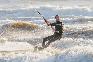 Bigbury Bay Kite Surfer 07