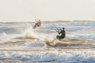 Bigbury Bay Kite Surfers 08
