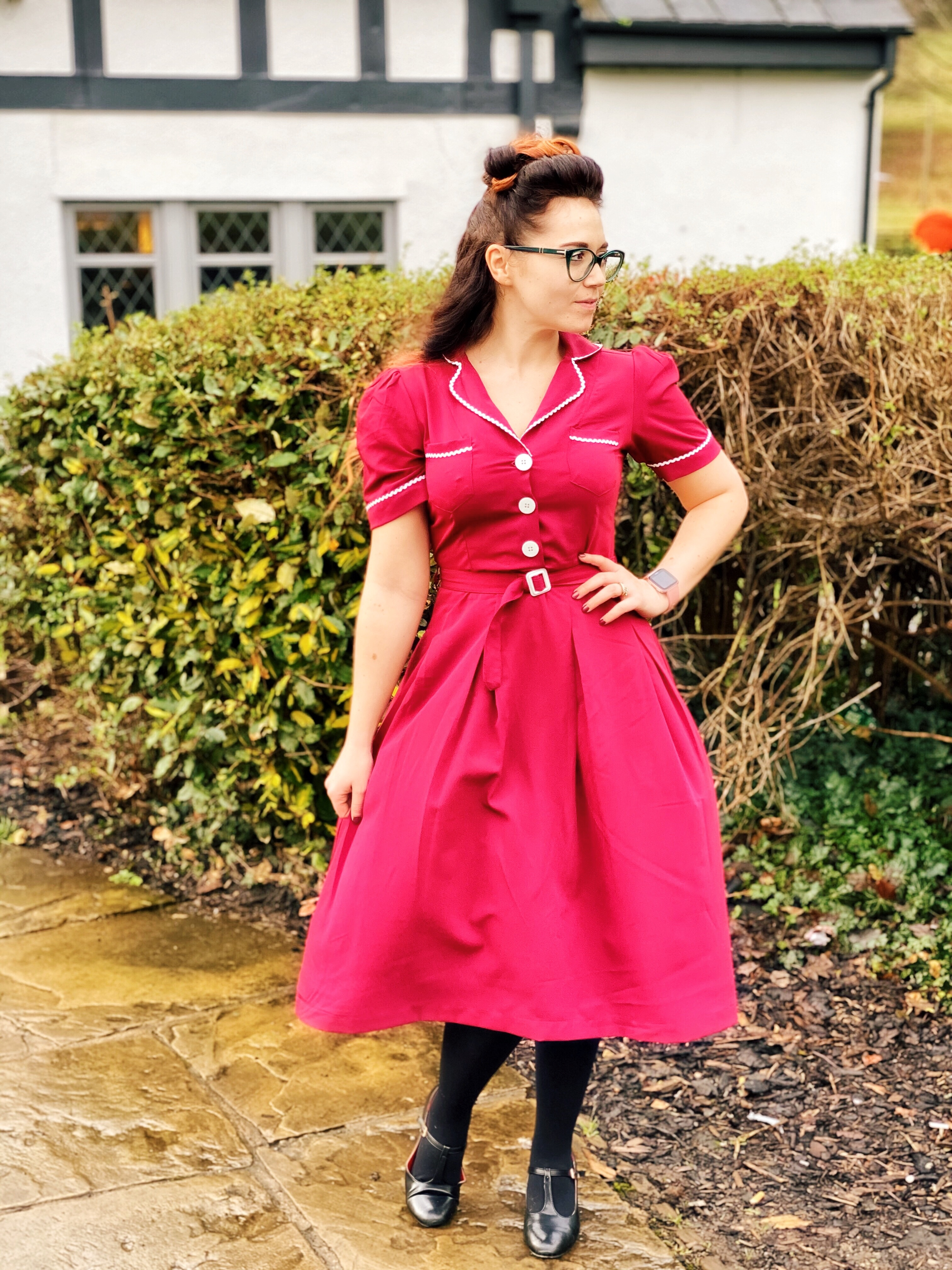 What I wore today blogger Kitty Dress
