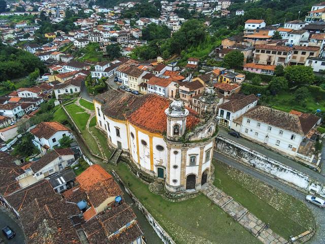 Igreja de Nossa Senhora do Rosário dos Homens Pretos (1822) -  Ouro Preto - Brazil
