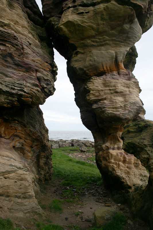 Caves on the coast near Anstruther