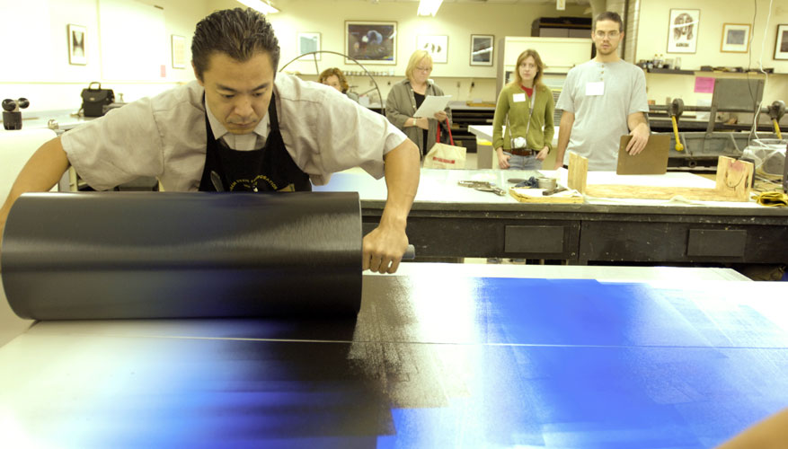 Large-Scale Monotypes demonstration