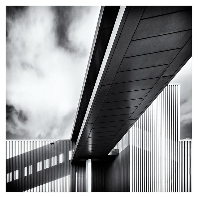 Shadow of a bridge