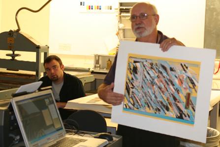 Digital Matrix for Water-based Serigraphy
