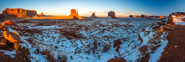 Monument Valley Utah Winter Snow Fine Art Landscape Nature Fuji GFX100 Sunset Photography! Dr. Elliot McGucken dx4/dt=ic California Master Fine Art Medium Format Photographer! GF Lens Fuji GFX 100 MF!