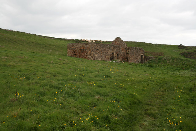 Ruined cottage on the coast between Anstruther and Crail