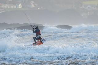 Bigbury Bay Kite Surfer 03
