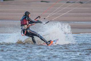 Bigbury Bay Kite Surfer 01
