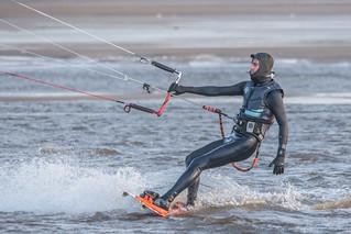 Bigbury Bay Kite Surfer 04