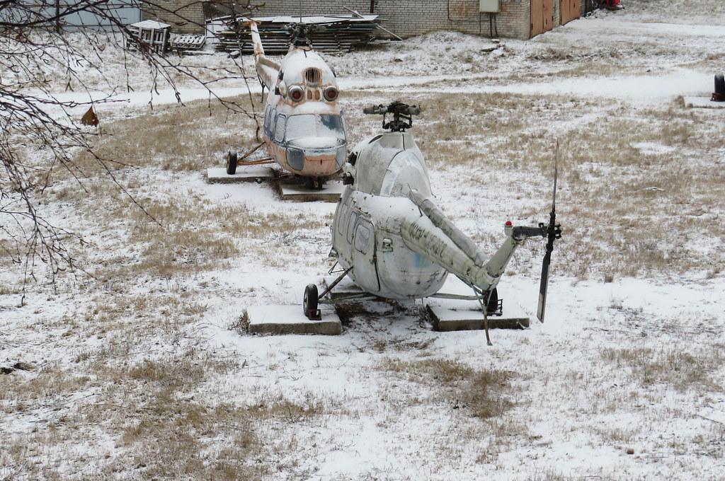 Вертолёты в Выборге.